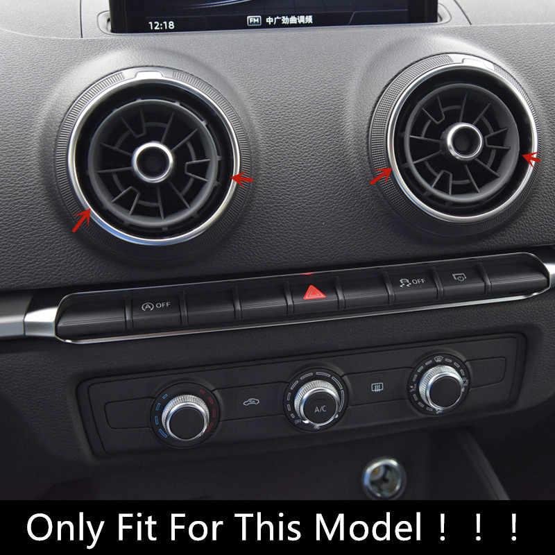 Aluminum Alloy Air Conditioning Button Knob Decoration Cover Trim for Audi A3 Q2 Q3 Black