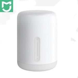 Image 1 - Xiaomi Mijia прикроватная лампа 2 свет WiFi/Bluetooth Светодиодная лампа Смарт Крытый ночник работает с Apple HomeKit