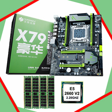 HUANAN X79 motherboard CPU RAM combos Intel Xeon E5 2660 V2(10 cores/20 threads) LGA 2011 memory (4*4G)16G DDR3 REG ECC  100% new desktop motherboard g41 cpu x5420 2 93g memory 4g ecc cpu fan set lga 771 ddr3 boards mainboard free shipping