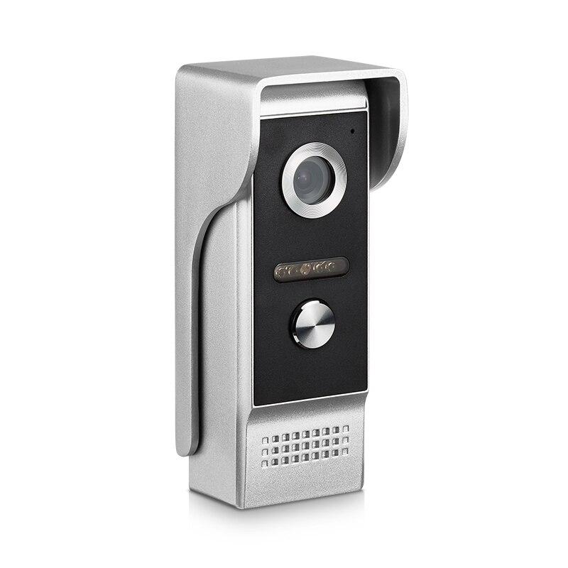 AnjieloSmart 4-Wired Video Door Phone Single Durable Doorbell Waterproof Wide View Angle Lens Night  Vision
