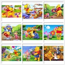 Disney 5D DIY Diamonds Painting Cartoon Mosaic Winnie the Pooh Decor Diamond Rhinestone Embroidery Cross Stitch Home Decor