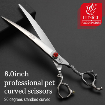Fenice mango de dragón 8 pulgadas profesional curvado perros de compañía tijeras...