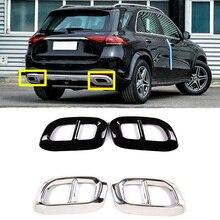 Auto Styling Staart Keel Decor Frame Voor Mercedes Benz Glc Gle W167 Gls Class 2020 Uitlaatpijp Cover Sticker Accessoires