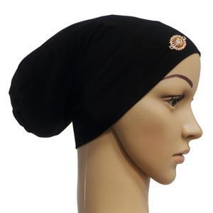 Image 2 - Rhinestone ภายใต้ผ้าพันคอผู้หญิงมุสลิม Bonnet Turban หมวกอิสลาม Headscarf อาหรับ Hijab หมวกหมวก Headwear Underscarf หมวก