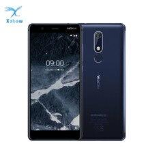 Nokia 5.1 telefone celular versão global, 3gb de ram, 32gb rom, tela 5.5 ips, 16mp, câmera 8mp, mt6755s, octa núcleo android 8 celulares
