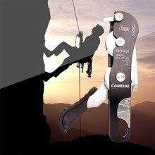 Rock Climbing Descender 150kg Self-braking Stop Rope Clamp Grab Rescue Descender Carabiner Climbing Accessories