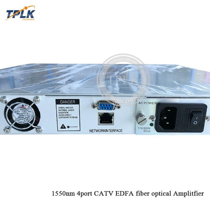 Лучшая цена 1550nm CATV WDM EDFA 4 порта 16/20/24 дБм высокая мощность волоконно-оптический усилитель 1U 4 EDFA порты 16/20/24 дБм