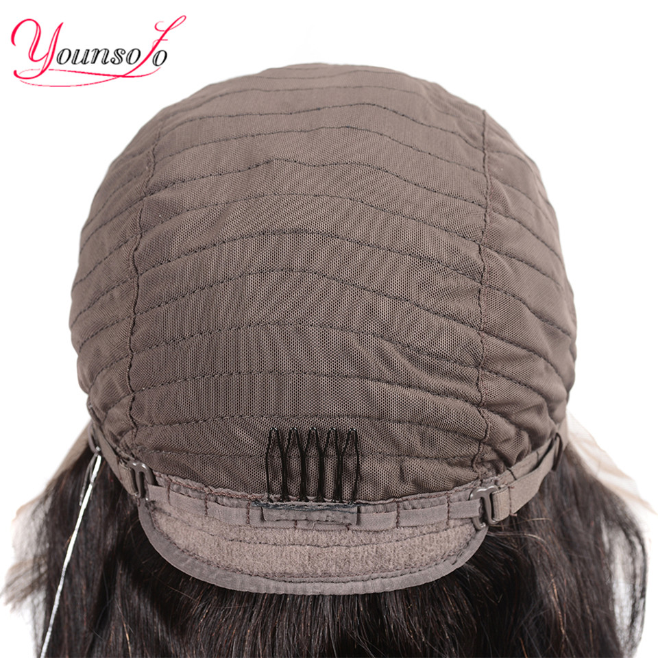 H085b99764b5f4cb48c691314fec23045U Younsolo 13x4 Lace Front Human Hair Wigs For Black Women Remy Brazilian Water Wave Lace Front Wig Pre Plucked With Baby Hair