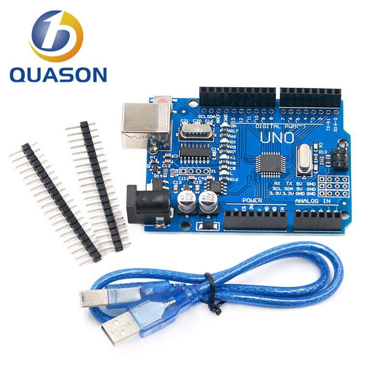 UNO R3 CH340G + MEGA328P SMD чип 16 МГц для Arduino UNO R3 плата для разработки USB кабель ATEGA328P один комплект