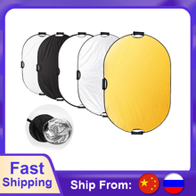 100*150cm 5 in 1 Multi Disc Photography Studio Photo Oval Collapsible Light Reflector handhold portable photo disc