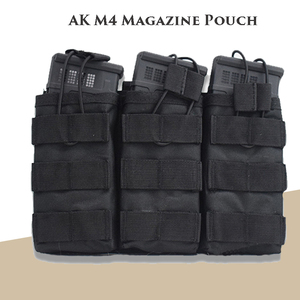 Hunting Airsoft Vest Ammo Pouch Tactical Molle Magazine Pouch M4 Open Top Single / Double / Triple Magazine Pouch