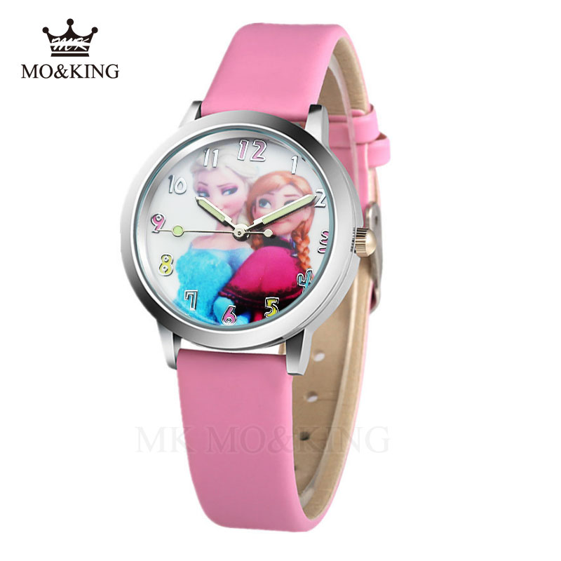 Reloj Infantil 2018 Kids Watches Snow Queen Princess Elsa Anna Sophia Cartoon Children Watch Quartz Wristwatches Clock Relojes