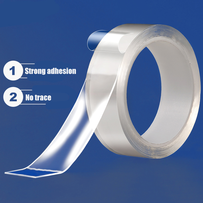 Closeout DealsDouble-Sided Nano Magic Tape Double Sided Tape Transparent NoTrace Reusable Waterproof Adhesive Tape Cleanable Home gekkotape