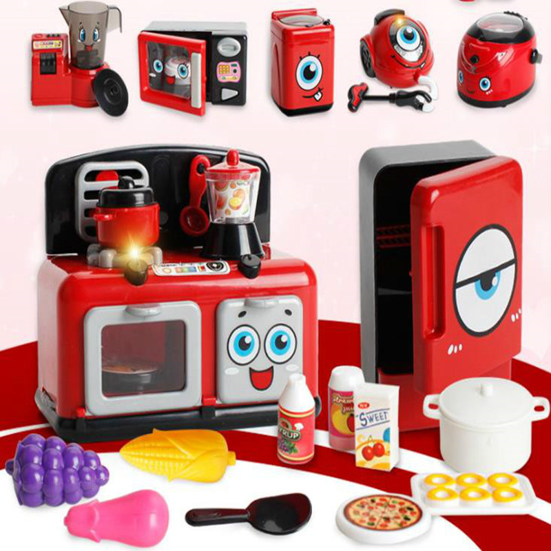 Small Washing Machine Vending Machine Microwave Oven Simulation Home Appliances Kitchen Toys Play House Toys For Child