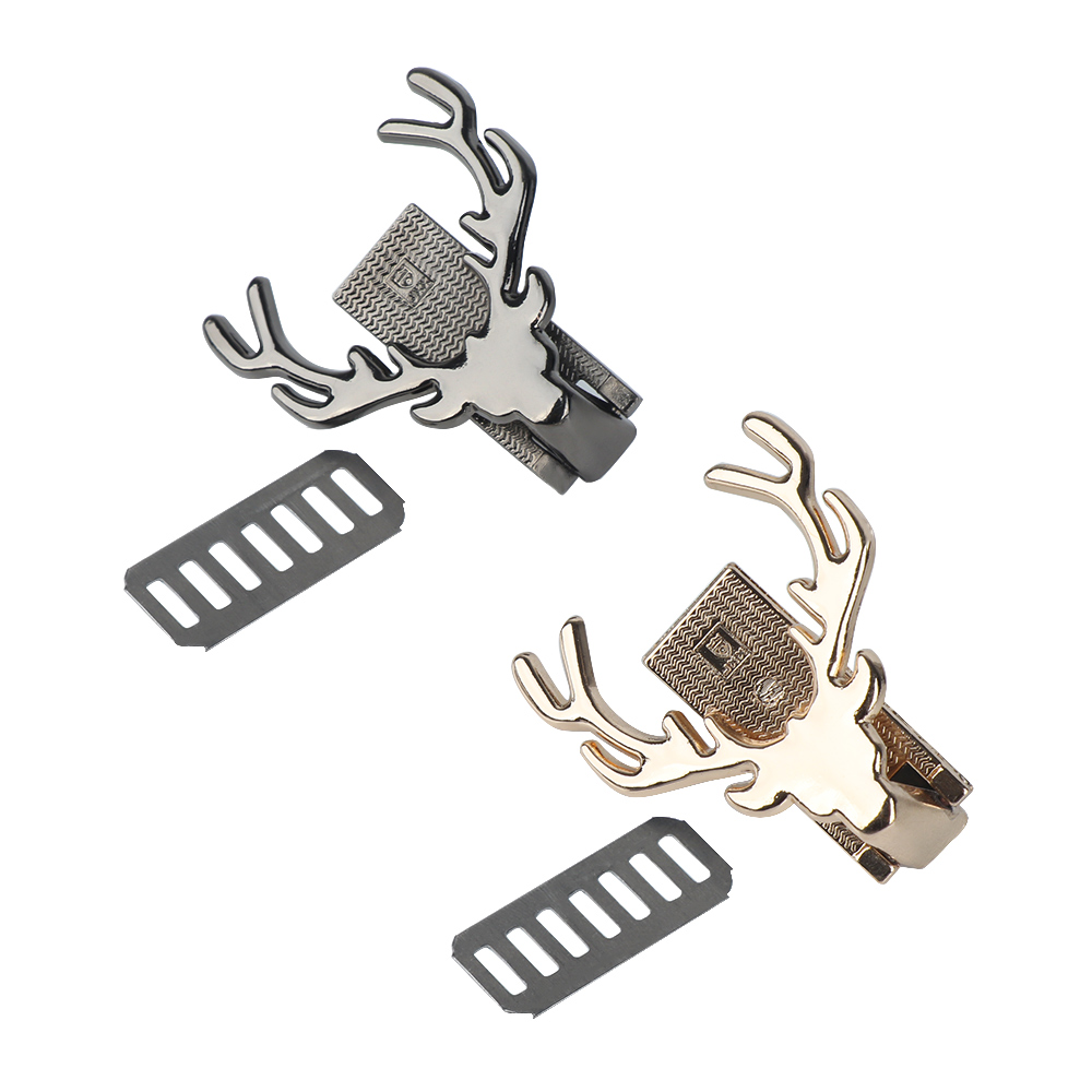 1 PC Practical Bag Accessories Deer Design Metal Turn Lock Twist Lock DIY Handbag Shoulder Bag Hardware Part Bag Decoration