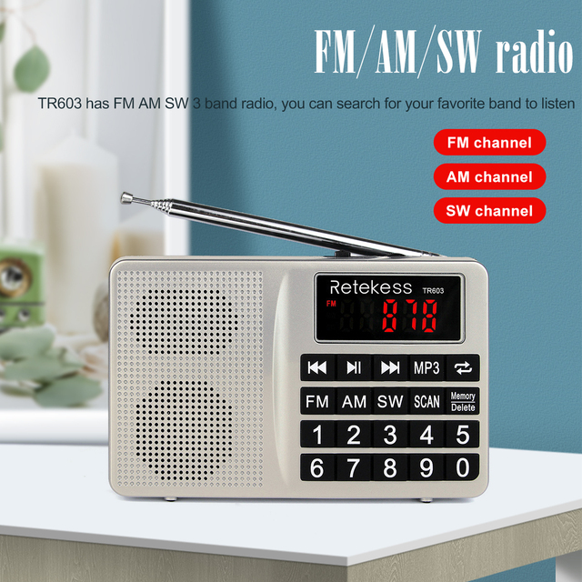 Радиоприемник RETEKESS TR603 AM/FM/SW MP3 TF-Card
