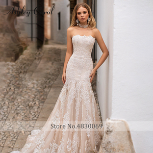Image 3 - Detachable Mermaid Wedding Dresses 2020 With Jacket 2 In 1 Boat Neck Full Sleeve Appliques Lace Up Bridal Gown Vestido De Noiva