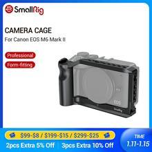 Gaiola de câmera smallrig m6 para canon eos m6 mark ii dslr forma gaiola de montagem com punho integrado/montagem de sapata fria vlog rig 2515