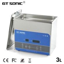 GTSONIC цифровой ультразвуковой очиститель для ванной 3л 100 Вт 99 мин таймер нагрева Degas ювелирные очки PCB инструменты автомобильные металлические части R3