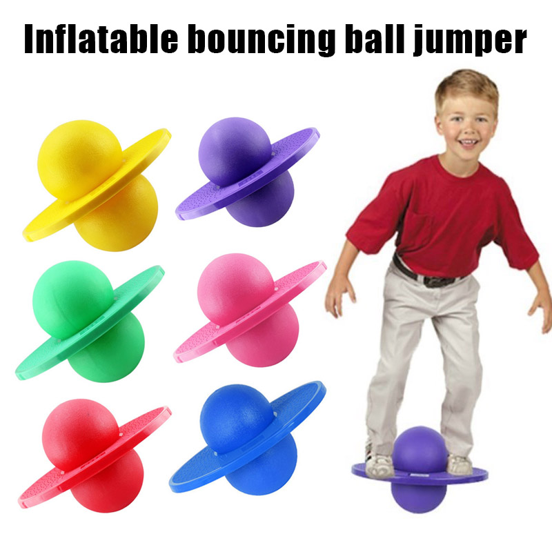 Hot Hopper Pogo Ball Balance Board Hop Bounce Jumping Fitness Ball Rock Planet Jumping Toy Balance Jump Board Ball Toy MVI-ing