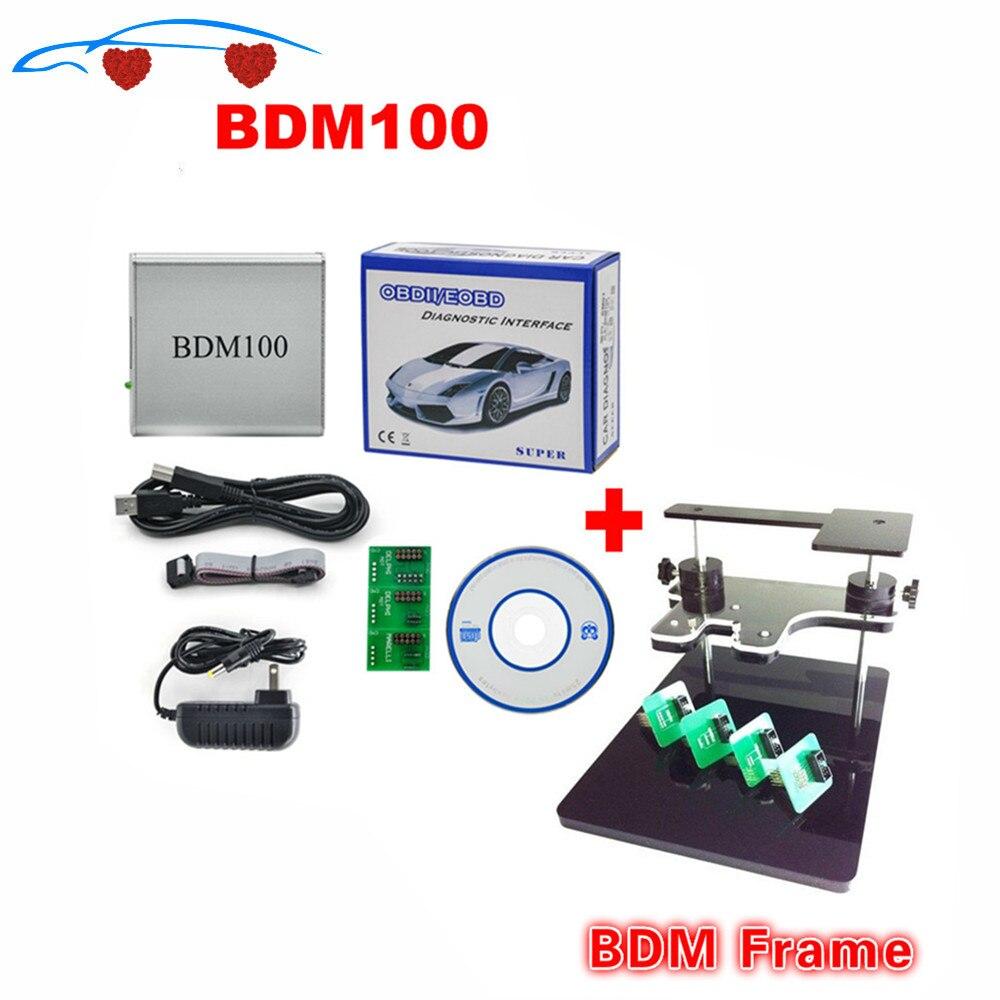 Novo bdm 100 ecu bdm 1255 programador bdm100 cdm1255 + quadro bdm com adaptadores conjunto apto para bdm100 programador/cmd, quadro bdm