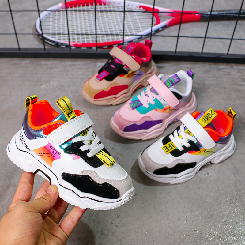 2020 Spring Kids Sport Shoes For Girls Sneakers Shoes Boys Fashion Comfortable Casual Kids Shoes For Girl Children Shoes