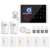 Gsm wifi sistema de alarme de segurança em casa  gprs sem fio alarme anti roubo wi fi sms chamada alerta|Sensor e detector| |  -