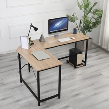 Wooden Computer Office Desk Writing Desk Home Gaming PC Furnitur L-Shape Corner Study Computer Table With Book Shelf cheap Hit Upon CN(Origin) Office Desks Commercial Furniture Office Furniture