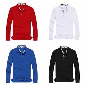 Image 4 - Plus Size Women Polo Shirt High Quality Cotton Long Sleeve Shirt Autumn Female Breathable Sweatshirt Activity Suit Customization