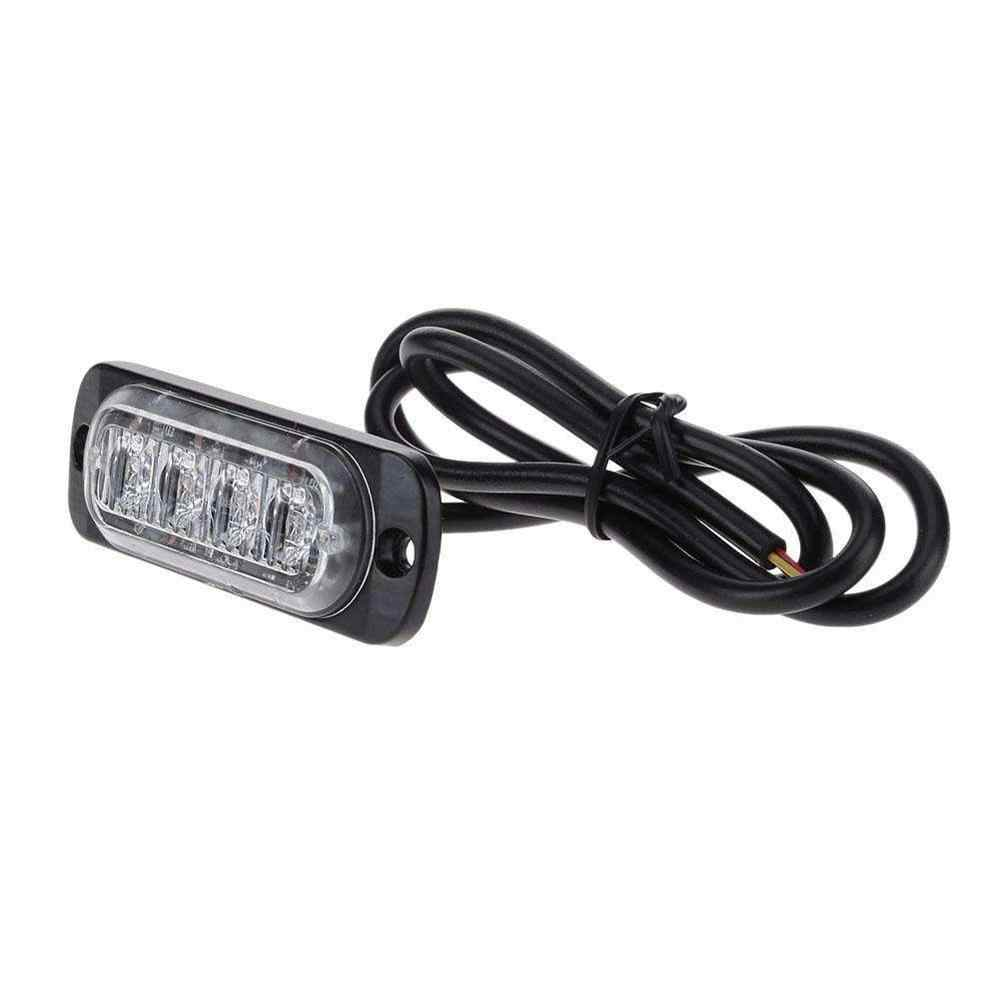 4 светодиодный 12 Вт 12-24 В Автомобильный светодиодный стробоскоп светосигнальное устройство решетчатая подсветка Lightbar грузовик, автомобиль, мотоцикл Янтарный красный синий светофор