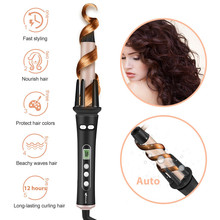 Hair Curler Heat-Wand Wavy Ocaliss Auto LCD Ce 30s 1-Inch Instant-Ceramic