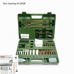62 шт., универсальный набор для чистки ружья, пистолет для ружья, пистолет для ружья, профессиональный набор для чистки ружья, инструмент для ...