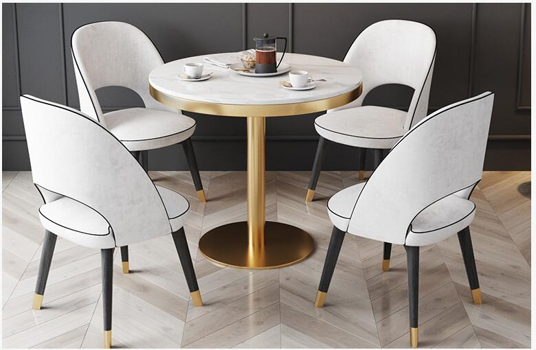 Nordic Table And Chair Combination Light Luxury Marble Table Hotel Reception Sales Office Table Casual Coffee Table