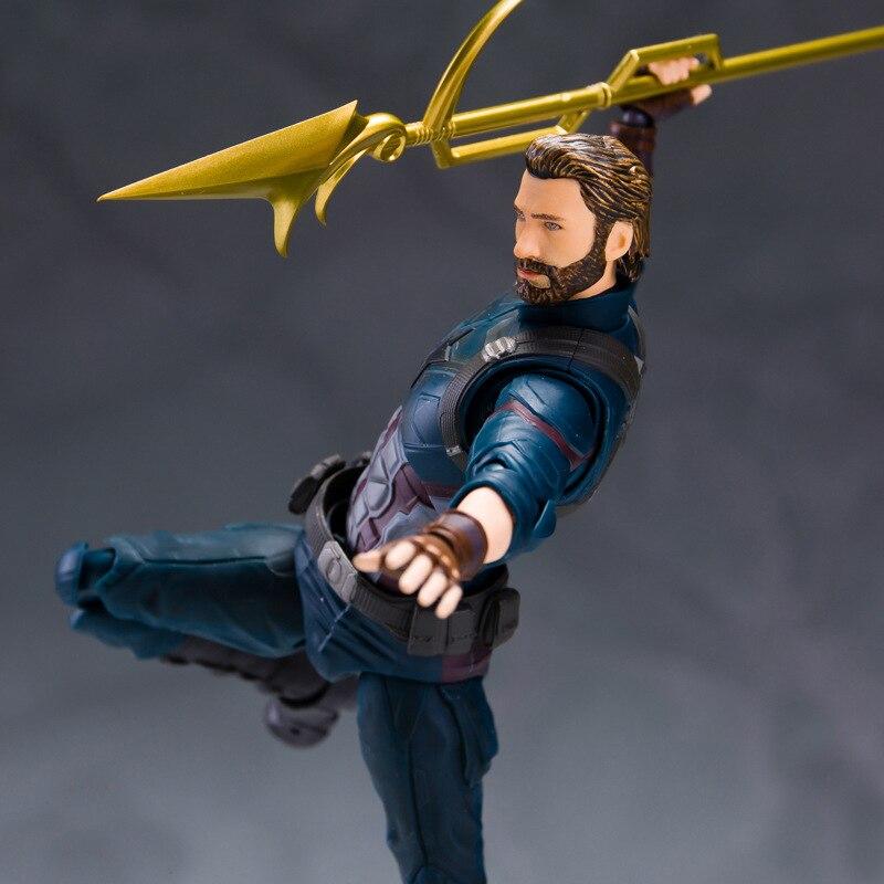 Anime Model Figure SHF Captain-America Action Figure Infinite War Hands-on Model Dolls PVC Toys For Gifts