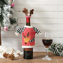 Santa Claus Wine Bottle Cover Merry Christmas Elk Decorations for Home 2019 Christmas Ornament Navidad Natal Gift New Year 2020 стоимость