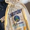 Retro printed dinosaur letter brand hoodie for girls new spring thin long-sleeved tops female new Korean fashion Harajuku 4