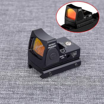 Tactical RMR Red Dot Sight Scope Adjustable Collimator Glock Rifle Reflex Sight Fit 20mm Weaver Rail For Airsoft Optics Sight c more style red dot sight railway reflex for ris rail 4 color options free shipping