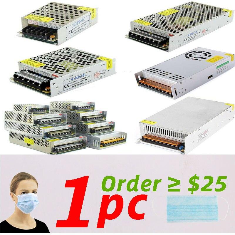 LED Switching Power Supply Light Transformer AC 110V 220V To DC 5V 12V 24V 48V Power Supply Source Adapter For Led Strip CCTV