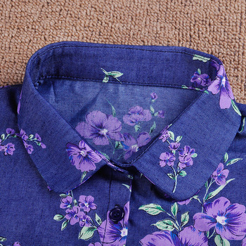 Drukuj Odpinane Obroże Dla Kobiet Krawat W Stylu Vintage Kwiat Fałszywe Kołnierz Pani Col Denim Fałszywy Kołnierz Koszula Lapel Bluzka Top Kobiety