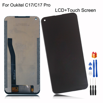 Original For Oukitel C17 LCD Display Touch Screen Digitizer Assembly For Oukitel C17 Pro Display Screen LCD Repair Parts + Tools for myphone hammer energy lcd display touch screen original lcd glass digitizer assembly repair parts