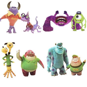 цена Disney Pixar Monsters University Monsters Inc James P. Sullivan Mike Wazowski Mr.Q Action Figures Model Toys For Children Gift онлайн в 2017 году