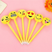 3pcs/lot 3D emoji Expression design Ballpoint pen soft Ball funny gift office school Stationery supplies
