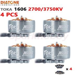 NEW Diatone MAMBA TOKA 1606 2700KV 3750KV Brushless Motor 17g 3-6S 1.5mm Shaft Diameter 3inch~4inch prop for RC FPV Racing Drone(China)