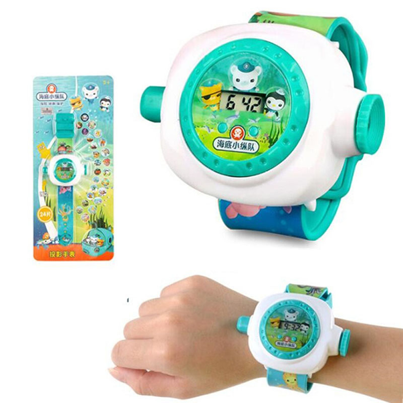 KaKBeir Octonauts Kids Toys Children Small Gift Children's Cartoon Watch Projection Electronic Watch Boys And Girls Toys
