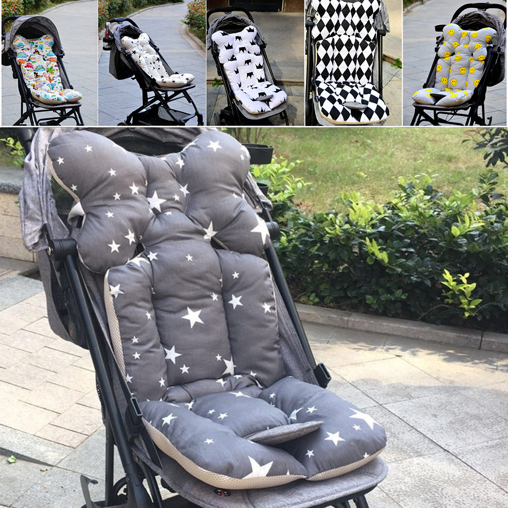 Newborn Stroller Cushion Seat Cover Baby Thicken Cotton Mattresses Pillow Infant Trolley Chair Cushion Kids Stroller Accessories