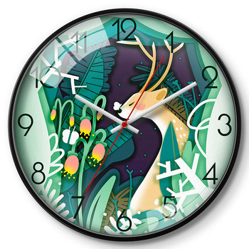 Creative Glass Wall Clock Bedroom Wall Watch Analog Nordic Modern Design Wall Clocks Decorative Watches Living Room 2020 II50BGZ