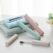 Портативная коробка для зубных щеток, держатель для хранения трубки, чехол для ложки, пылезащитный чехол из пшеничной соломы, футляр для карандашей для ванной, держатель для зубных щеток