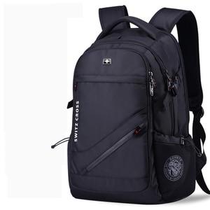 Image 2 - mochila Swiss Mens anti theft Backpack USB Notebook School Travel Bags waterproof Business 15.6 17 inch laptop backpack women