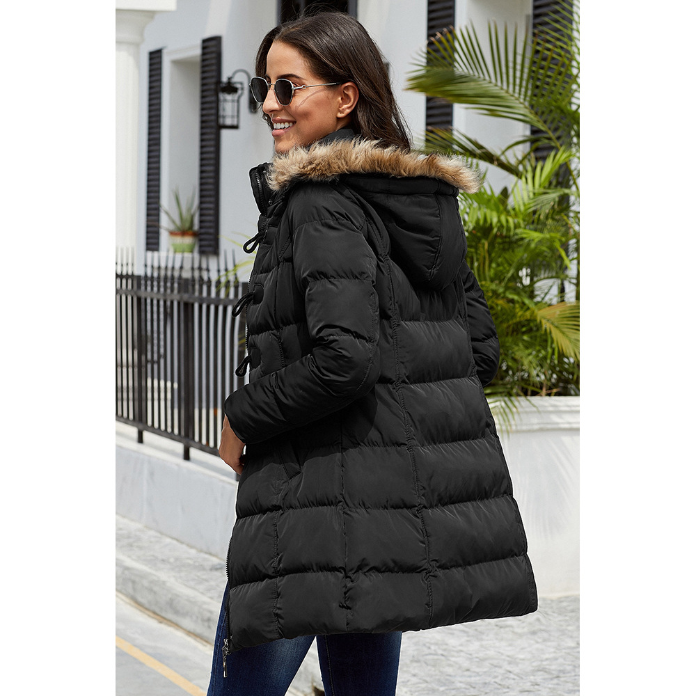 Winter Warm New Style Down Jacket Cotton-padded Clothes Women's Winter Thick Cotton-padded Jacket Europe And America Mid-length