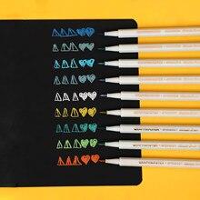 JIANWU – stylo pinceau métallique de couleur 18 pouces, carte créative de peinture, dessin, fabrication de marqueurs pour Scrapbooking, fournitures scolaires